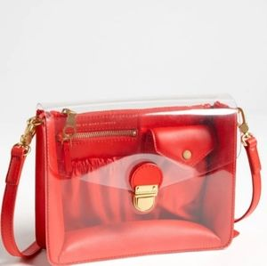 MARC BY MARC JACOBS CLEARLY CROSSBODY BAG.